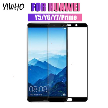 Tempered Glass for Huawei Y6 2018 Screen Protector Protective Huawey Y7 Y5 Prime 6y 6 Y Huawe 7y Armor 5y Y6prime Hawaii Cover image