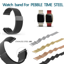 Hot sales Pebble Time/Pebble Time Steel Milanese Loop Magnetic Clasp Fashion Replacement Watch Band Strap for Pebble Time 22 mm