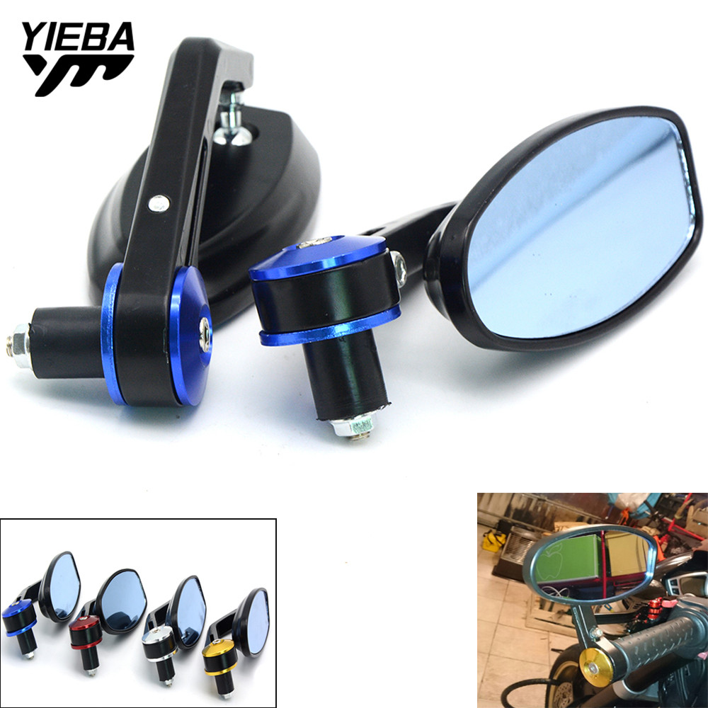 motorcycle mirrors rear view 22mm handle bar end mirror for aprilia scarabeo 500 50 250 100 4t rxv 550 450 rsv4 rfw misano sx 50 in side mirrors  [ 1000 x 1000 Pixel ]