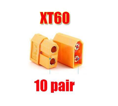 10/20 штук XT60 XT-60 штекерно-разъемы Вилки провод с силикатной гелевой обмоткой для Батарея(5/10 пар - Цвет: 10 pair XT60