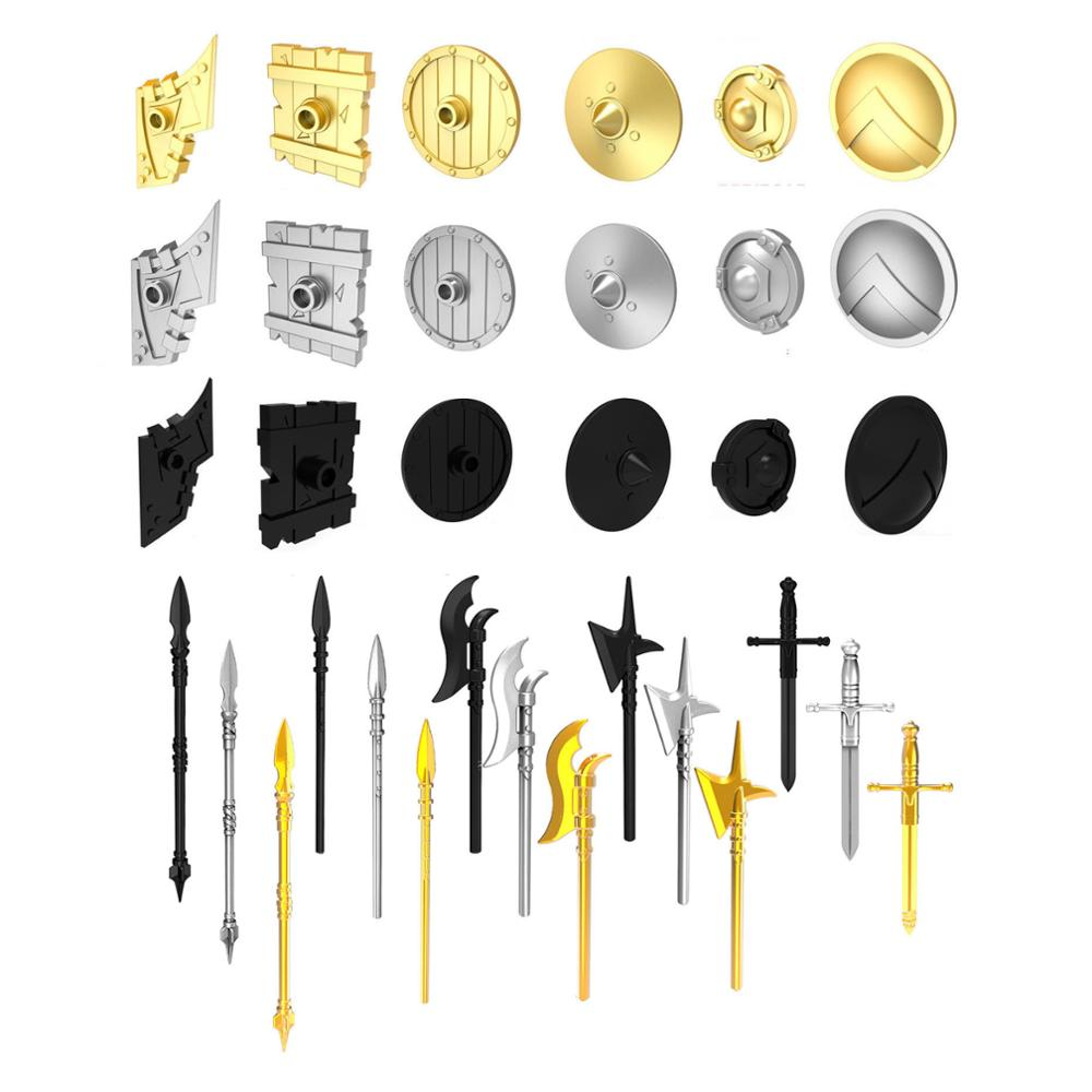10pcs Sword Spare Shield for Golden Company Second Sons Unsullied Dothraki Middle Ages Total War Game of Thrones Building Block image