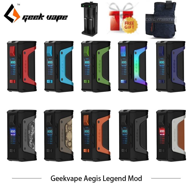 Original GeekVape Aegis Legend 200W TC Box MOD New AS chipset Powered by Dual 18650 batteries