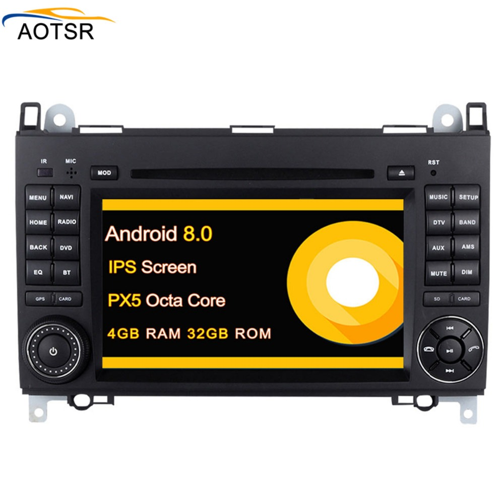 Android 8.0 4G 2 DIN Car DVD GPS head unit For <font><b>Mercedes</b></font>/Benz A-class <font><b>W169</b></font> A150 <font><b>A170</b></font> 2004-2012 gps navigation radio auto stereo image