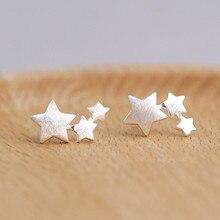 Серьги-гвоздики из стерлингового серебра 925 пробы со звездами для женщин, элегантные свадебные ювелирные изделия, серьги mujer moda Brincos eh907