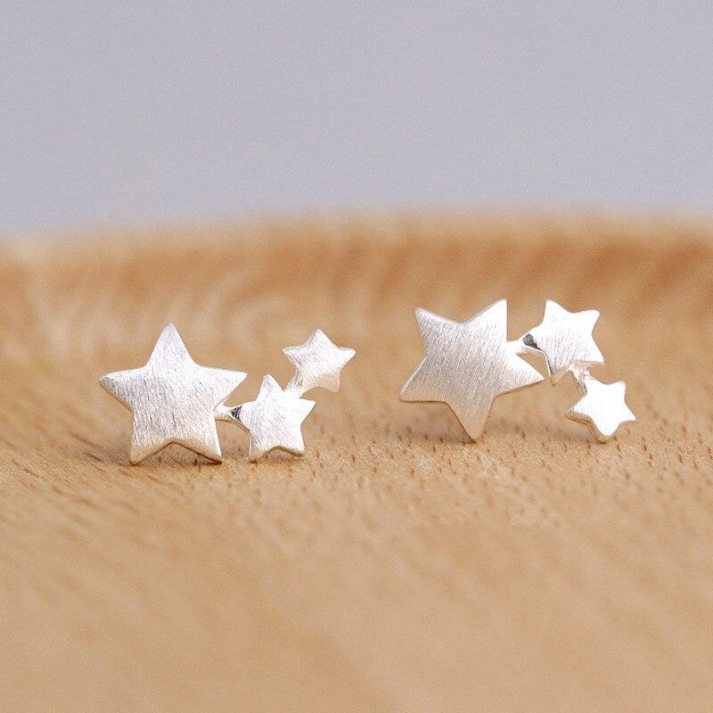 925 boucles d'oreilles étoile en argent sterling pour femmes élégant bijoux de mariage pendientes mujer moda 2018 Brincos eh907
