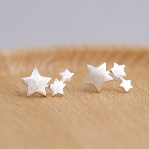 925 sterling silver Star Stud Earrings for Women Elegant Wedding Jewelry pendientes mujer moda 2018 Brincos eh907(China)