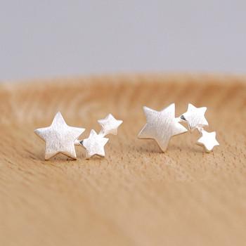 925 sterling silver Star stadniny kolczyki dla kobiet elegancka biżuteria ślubna pendientes mujer moda 2018 Brincos eh907 tanie i dobre opinie TRENDY TenJshunzhu Push-powrotem Kobiety 0 9*1 3cm