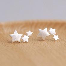 925 sterling silver Star stadniny kolczyki dla kobiet elegancka biżuteria ślubna pendientes mujer moda 2018 Brincos eh907 tanie tanio TRENDY TenJshunzhu Push-powrotem Kobiety 0 9*1 3cm