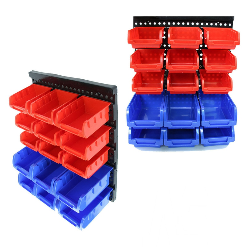 1pc beveled modular parts box small part plastic bins organizer rack wall mounted antistatic