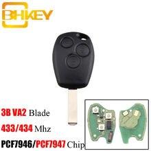 Bhkey 3 кнопки Автомобильный Дистанционный ключ для renault