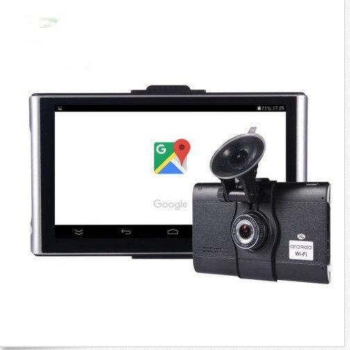 imágenes para 7 pulgadas GPS android con 1920X1080 P dashcam carga frontal full Europe map o mapa Navitel para Rusia