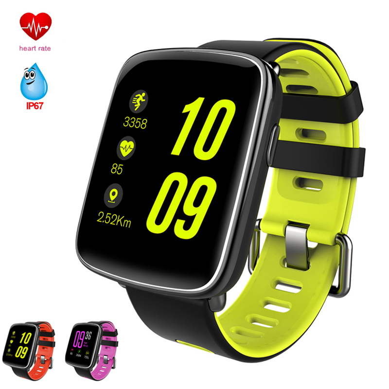 GV68 Heart Rate Monitor Smart Watch IP68 Waterproof Sports Bluetooth Smartwatch Swimming with Replaceable Straps for IOS Android
