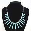 Do vintage azul turquesa choker colares & pingentes marca de jóias vintage acessórios colar de corrente new 2016 nke-j68