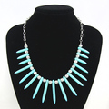 Vintage blue turquoise choker necklaces & pendants vintage brand jewelry chain necklace accessories new 2016 nke-j68