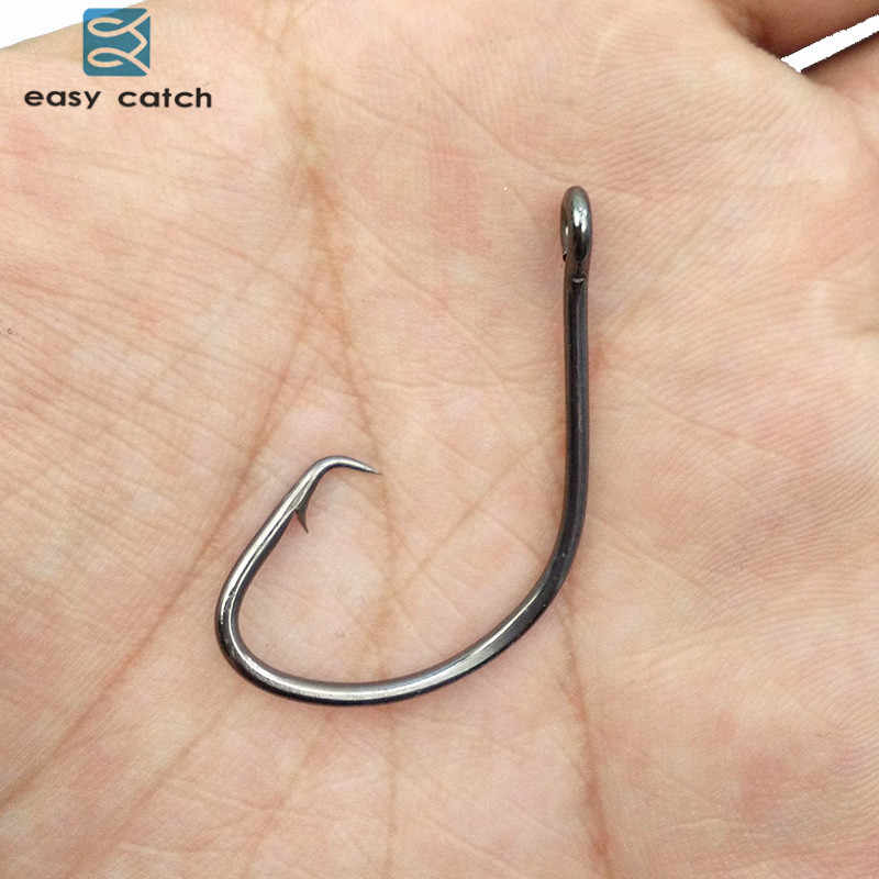 Easy Catch 100x Offset Sport Circle Bait Fishing Hook Size 1 1//0 2//0 3//0 4//0 5//0