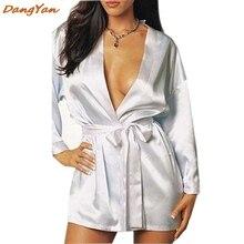 Sexy Lingerie Satin Lace Intimate Sleepwear Bathrobes erotic nightie dress costume sexy chemise sexy negligee