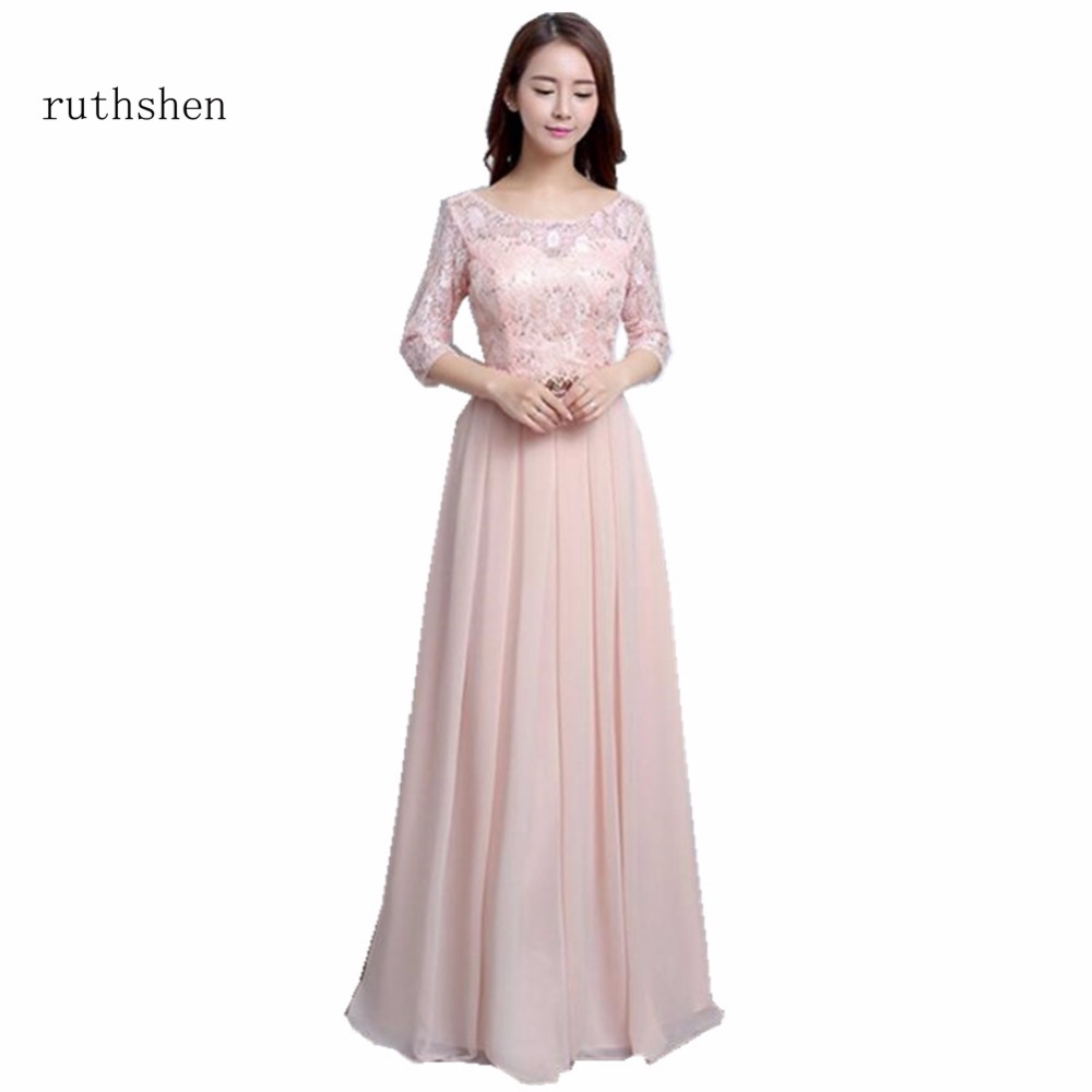 Affordable Wedding Guest Dresses: Ruthshen Pink Bridesmaid Dresses Long Cheap A Line Tulle
