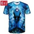 2017 Nueva Moda 3d camisetas de Los Hombres/de Las Mujeres Tops de Verano de Manga Corta cat 3d impreso camiseta del espacio galaxy t shirt cartoon tees x519
