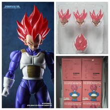 Demoniacal fit pak voor SHF SSJ Rode God Vegeta Accessoires custom headsculpt hoofd en haar set Figure Model Poppen Figurals(China)