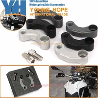 Motorcycle Aluminum Mirrors Relocation Extension Adapter Kit For BMW F650GS F700GS F800GS R HP2 Megamoto K1200R