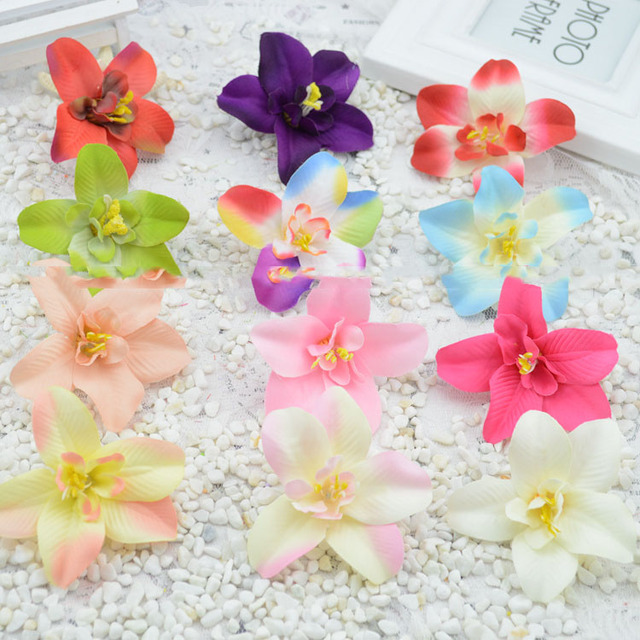 Artificial flowers new hot simulation silk flower orchid artificial artificial flowers new hot simulation silk flower orchid artificial flower garlands material diy decorative flower wholesale mightylinksfo