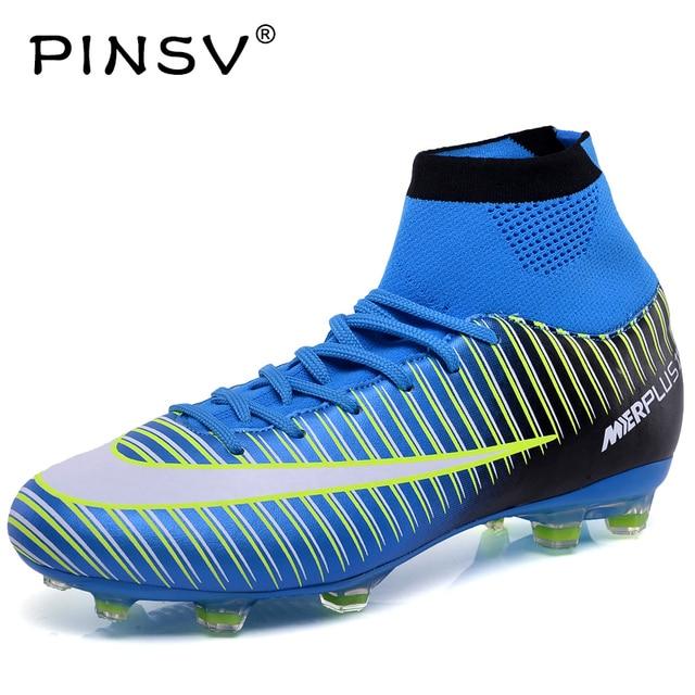Pinsv nuevo fútbol Botas Zapatillas de Soccer krasovki hombres Superfly  Zapatos venta niños tacos Zapatillas de 1f87426cb4131
