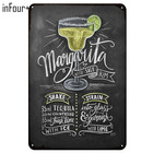 [inFour+] New Margarita Bar Cocktail Metal Signs Home Decor Vintage Tin Signs Pub Home Decorative Plates Metal Sign Wall Plaques