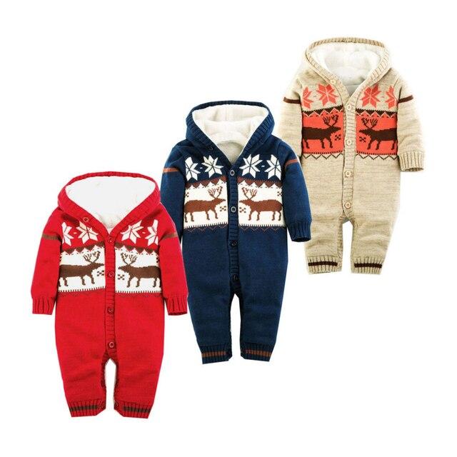 0d5c3a674 Gruesos calientes del Invierno de Punto Suéter de Bebé Polar de Coral Recién  Nacido Niños Niñas
