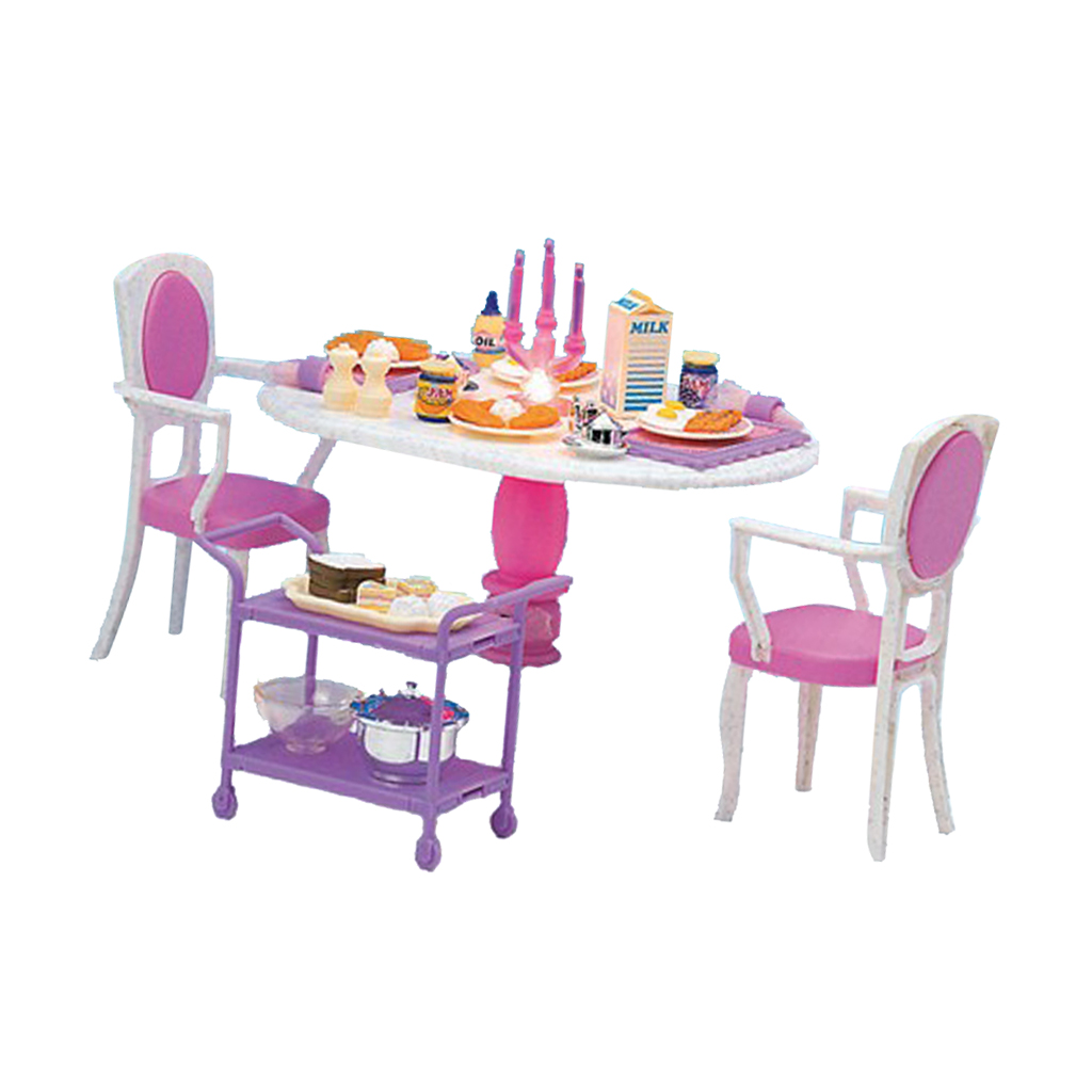 1/6 Table Chair Tableware Foods Set Living Room Kit for Hot Toys Figures Dollhouse Furniture Decoration Kids Playset Pretend Toy