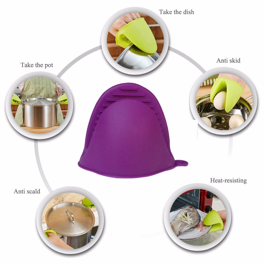 Microwaves Kitchen & Home Appliances 1 Pair Mini Oven Gloves Silicone Heat Resistant Cooking Pinch Mitts Potholder for Kitchen Cooking & Baking