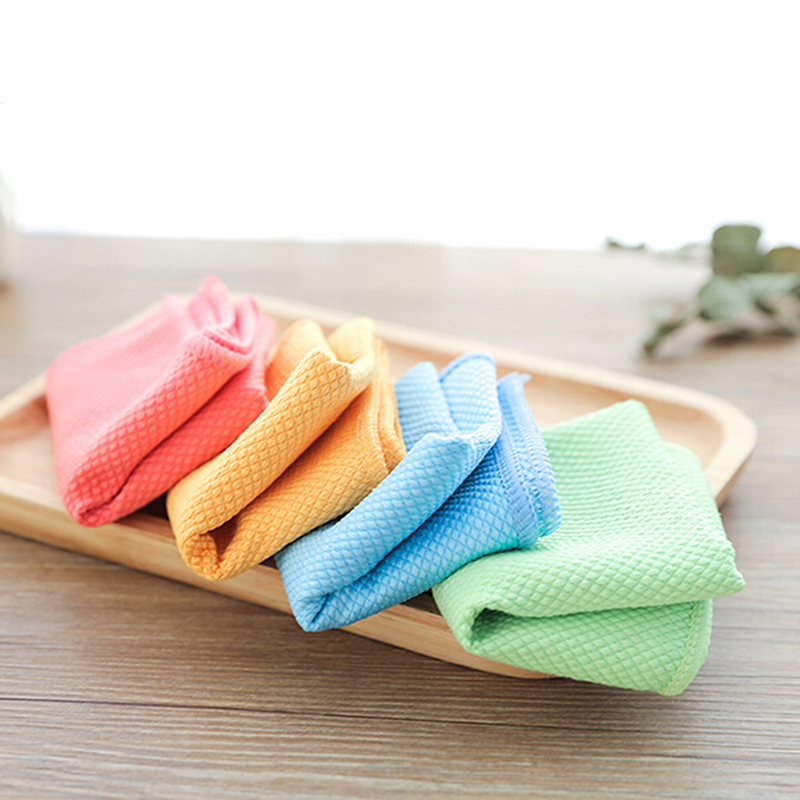 Us 2 16 35 Off Dish Rags Cloths Kitchen Washcloths Microfiber Glass Cleaning Cloths Lint Free Streak Free Quickly Easily Clean Windows Mirrors In