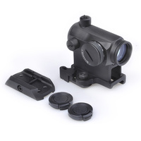 Tactical Mini 1X24 T1 Red Green Dot Sight Illuminated Sniper Rifescope With QD Mount & Low Mount Hunting Air Gun Rifle Scope