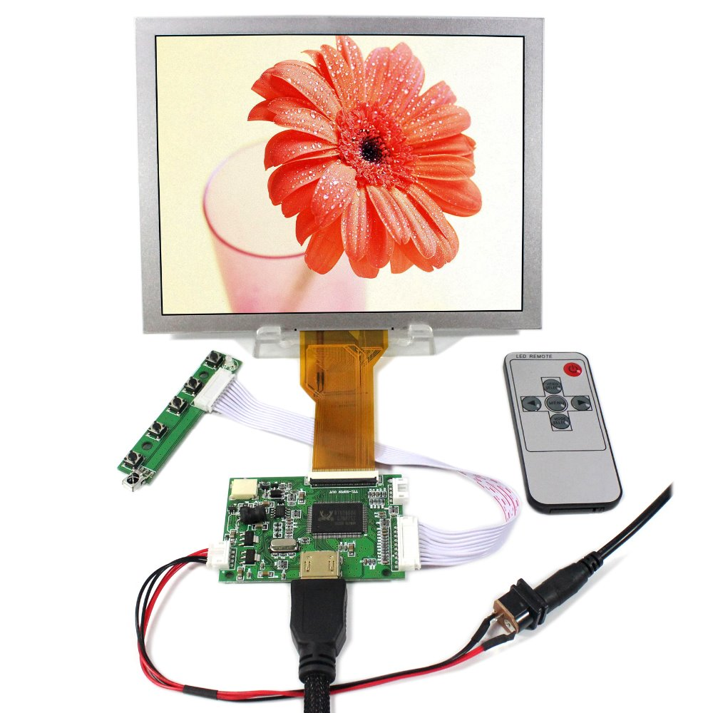 HDMI LCD Controller Board+8inch EJ080NA-05B 800x600 LCD LCD Screen hdmi vga 2av reversing lcd driver board work for 8inch at080tn52 ej080na 05a ej080na 05b 800 600 lcd panel