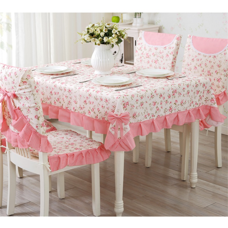 Hotsale Textile Fleur Imprimé Nappe, 9 pcs/ensemble Couverture De Table Décor À La Maison, Partie Table Chiffons, nappe rectangulaire tafelkleed