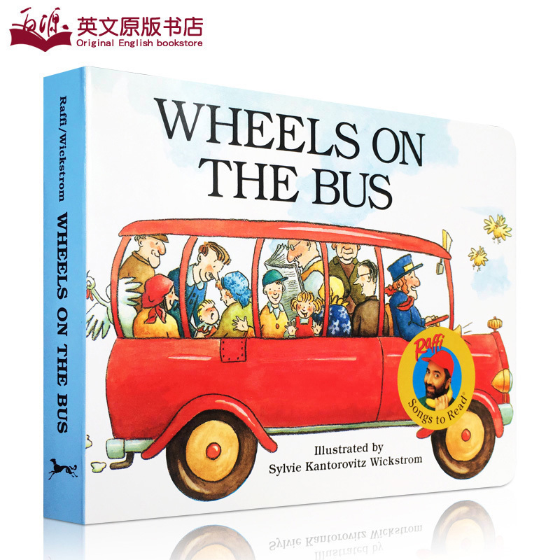 New Best Selling Books Wheels On The Bus  Enlightenment Flips Cardboard Book Chinese English Kids Books 0-6 Years Old Libros
