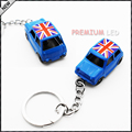 1pcs Blue 1:60 Classic Union Jack MINI Cooper Diecast Key Chain Key Ring Keychain