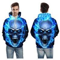 3D Printed Skull Headr Men Hoodies Sweatshirts Funny Hip HOP Hoodies Novelty Streetwear Hooded Spring Jackets