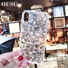 OUSU Transparent Ultrathin TPU Case For huawei p20 lite Mate 20 pro Nova 3 Original Diamond Soft Cases Cover Camera Protection