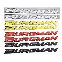 Freeshipping Raised  Stickers decals Burgman in Red AN125 AN200 AN400 AN650 2002-2011 3D emblem