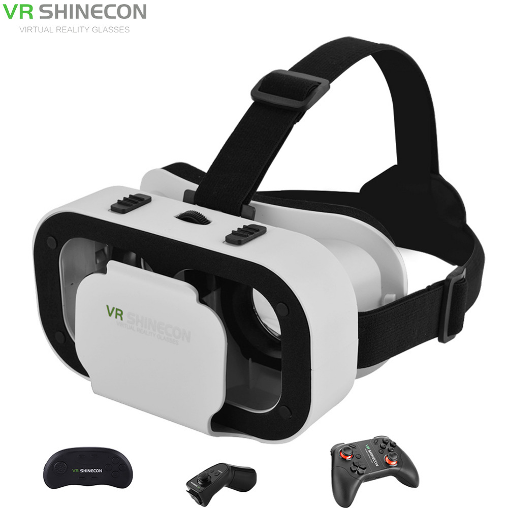 VR SHINECON 5.0 VR Box With Gamepad Virtual Reality VR Box 3D Glasses For 4.7-6.0 inch Phone