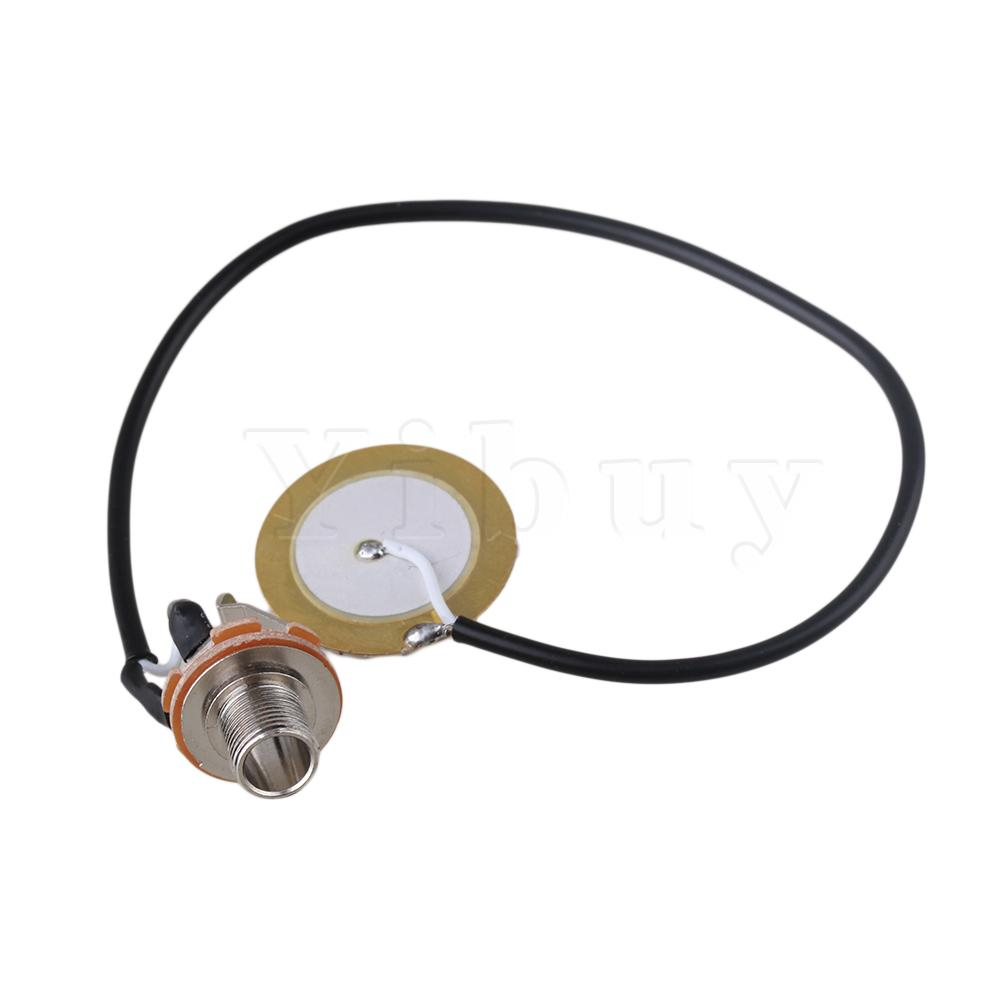 buy yibuy guitar transducer pre wired amplifier piezo 1 4 jack pickup mic. Black Bedroom Furniture Sets. Home Design Ideas
