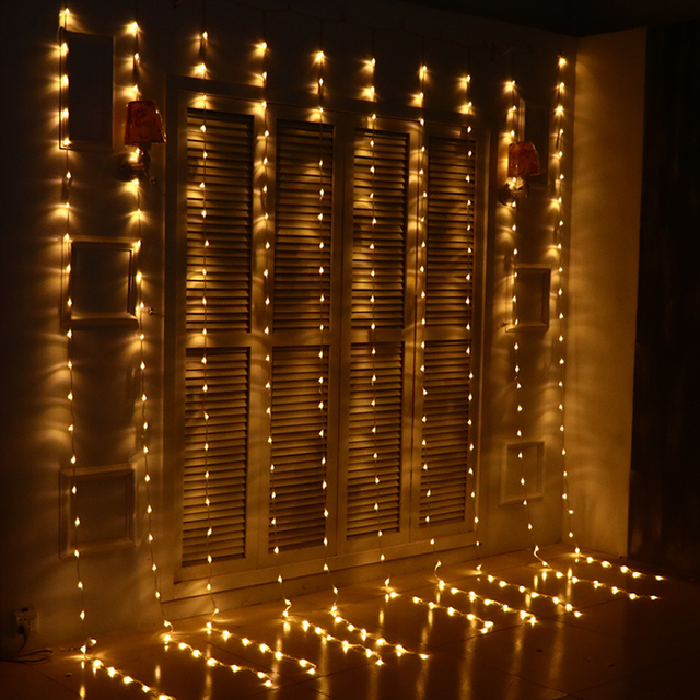3 3m 280 bulbs led christmas lights outdoor waterfall curtain lights garland new year wedding
