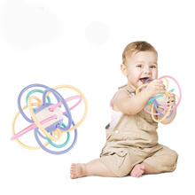 2019 Silicone Baby Teether Food-Grade Safety Material Teething Toys Colorful Manhattan Hand Catching Ball Toddler Baby Teethers