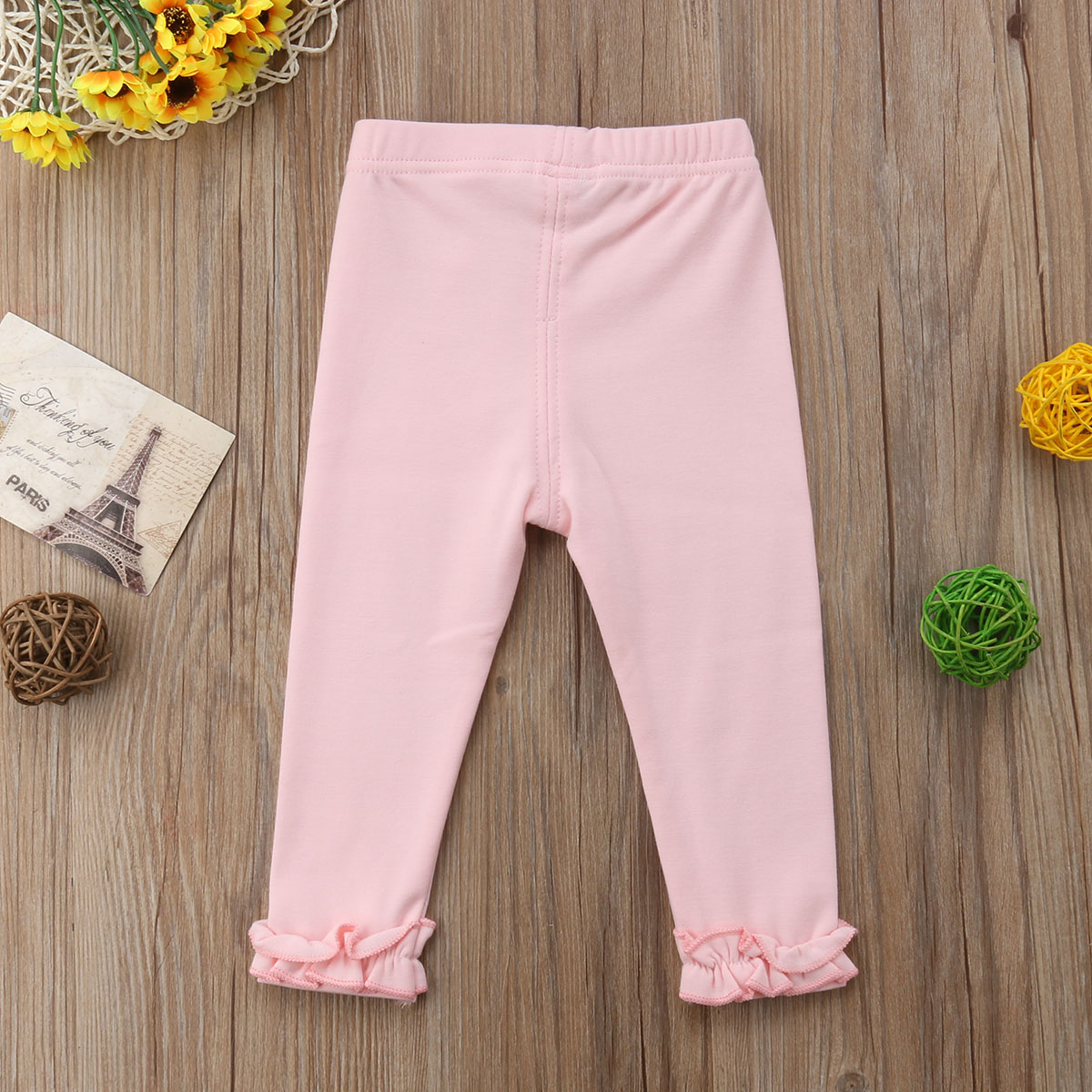 Kids Baby Girl Leggings Solid Trousers Toddler Casual School Long Pants Clothes