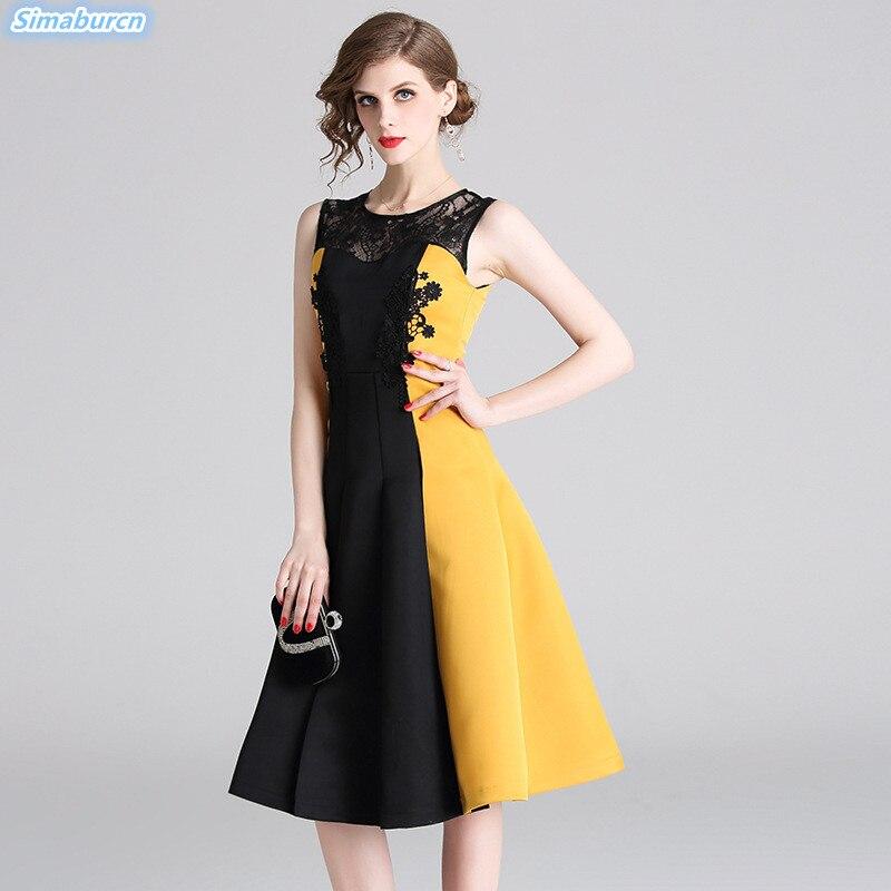 098654b4b3d De Supérieure Dress Vintage Sans Printemps 2019 Élégant Qualité Manches  Femme Dreses Robe Pour Robes ...