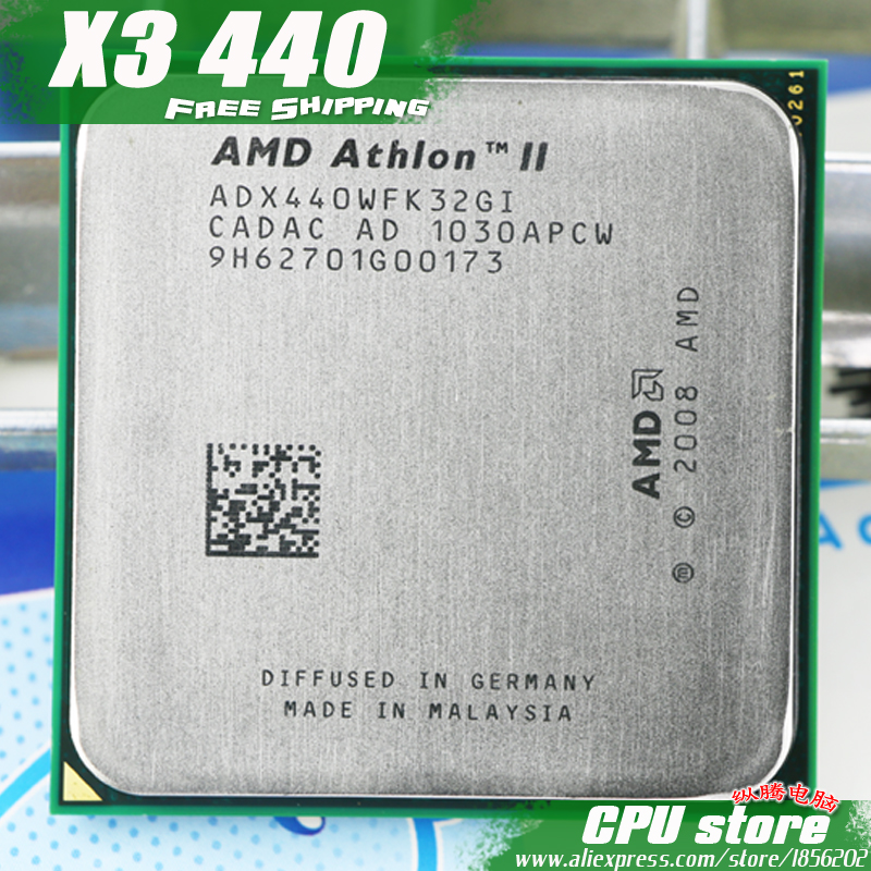 AMD Processor-Triple-Core CPU Socket Am3 Am2 Athlon-Ii X3 440 Pin-Sell 938 95w/2000ghz