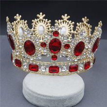 Bridal Tiaras Crown for Women Diadem Crystal Headpieces Prom High Crowns and Tiaras Wedding Hair Jewelry Pageant