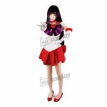 Anime Sailor Moon Sailor Mars Rei Hino Cosplay Disfraces de Halloween Ropa de Fiesta
