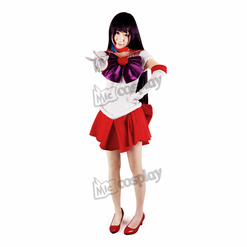 Anime Sailor Moon Hino Rei Sailor Mars Cosplay Costume Halloween Party Clothing