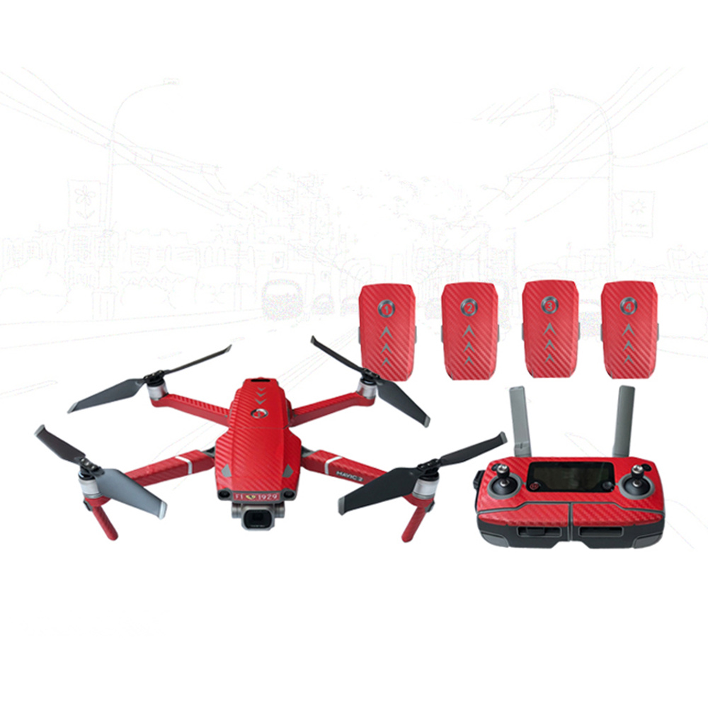 Waterproof PVC Stickers Decal Skin Cover Wrap Guard For DJI MAVIC 2 Pro Zoom Drone Body Arm Remote Controller Spare Parts